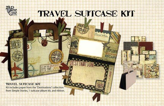 Pinecone press suitcase