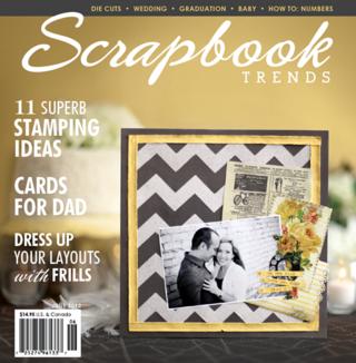 Scrapbook trends magazine cover