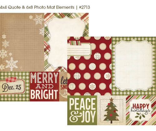 Handmade Holiday Mats and Elements #2713