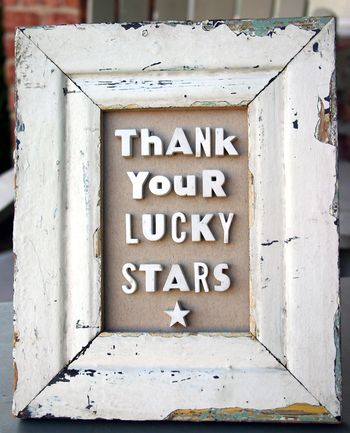 Thank your lucky stars barnwood frame