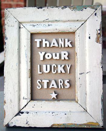 Thank your lucky stars barnwood frame