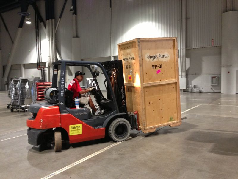 Crate arriving