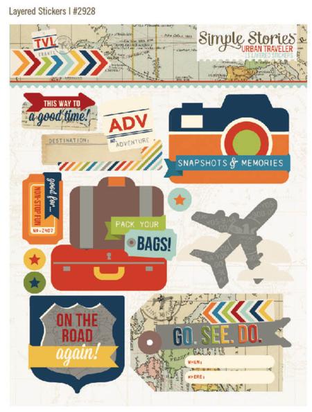 Urban traveler layered stickers
