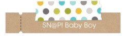 SNAP baby boy label
