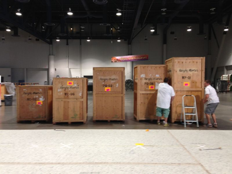 Booths packed up