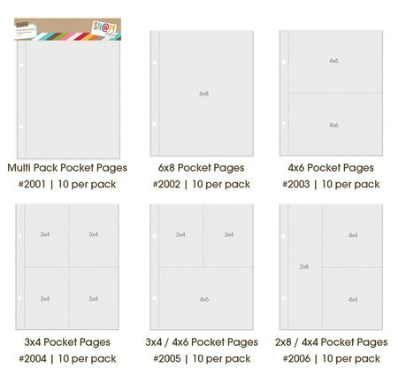 6x8 pocket pages