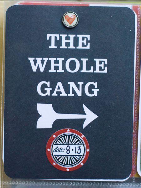 Whole gang card