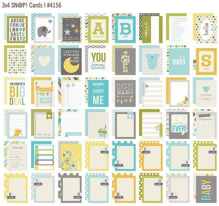 3x4 Sn@p! Cards Baby Boy