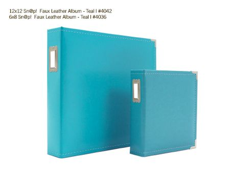 Sn@p Faux Leather Album - Teal