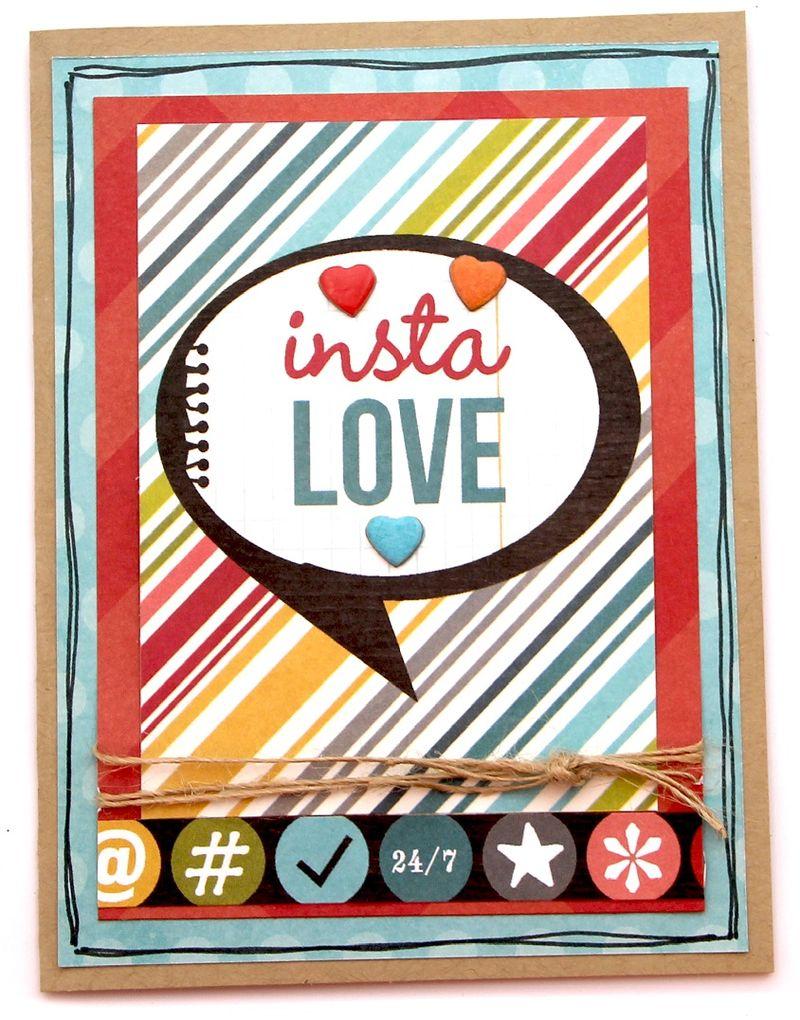 Instalove card by sue - sm