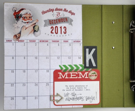 Layle Koncar December Daily inside cover