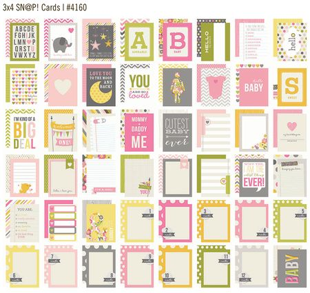 Baby girl 3x4 cards