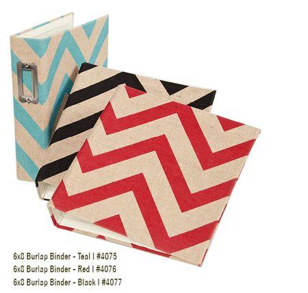 6x8 Burlap Binders