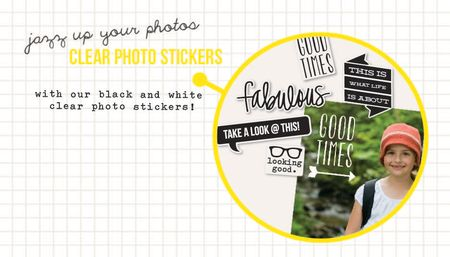 Clear photo stickers