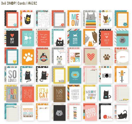 Cat 3x4 cards