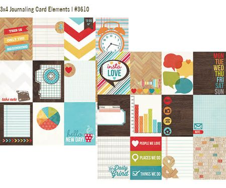 Daily Grind 3x4 journaling card elements