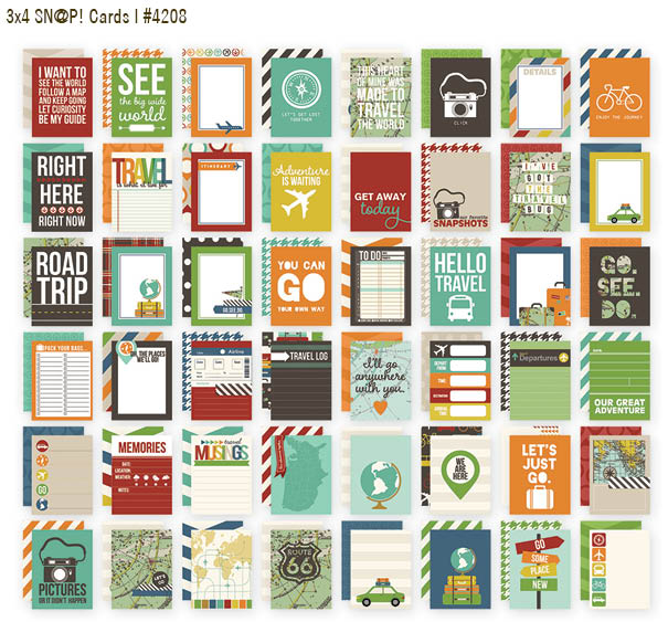 Travel 3x4 cards