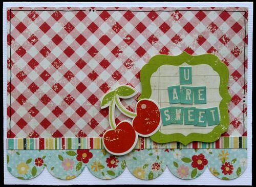 Kim - 100 Days - Sweet Card